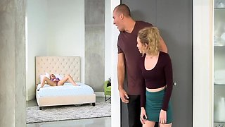 Hung Dude Fucks His Hot Young Gf And Her Cougar Milf Stepmom