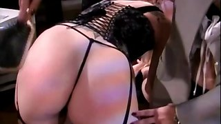 Spicy stocking babe ass spanked