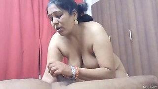 Shy desi mature sucking dick
