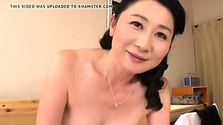 Pretty Japanese Asian Cougar Delighted With Home Sex