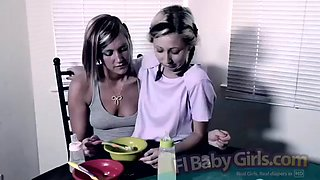 Diapered Sisters Caught