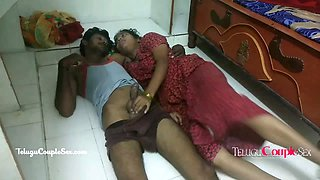 Hot Telugu Wife Nitya Seducing Her Husband Sex On The Floor