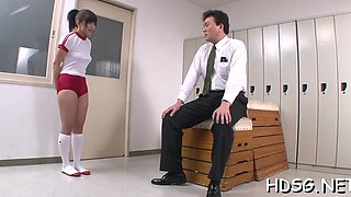 Admirable nipponese maiden aika hoshino is rubs her clit