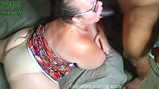 Mature bbw neighbor misses my young dick deep in her