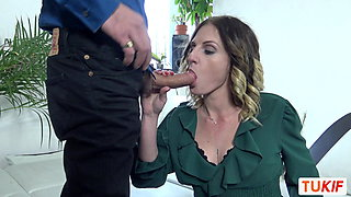 French MILF does a Blowjob and Fucks in Doggystyle