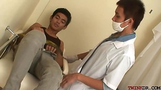 Twink Asian Pissing And Getting Nailed By Doctor After Exam