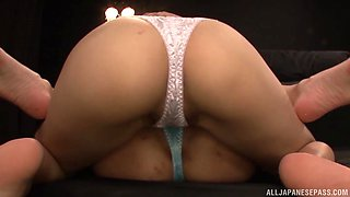 Japanese Ayumi Shinoda opens her legs to be licked by her friend