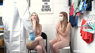 Two guilty bitches including kinky Ashley Lane are punished with rough sex