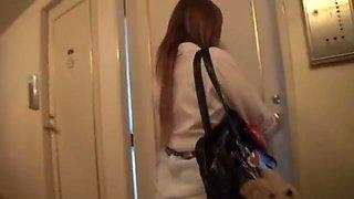 Lovely Japanese AV teen is a horny schoolgirl in CFNM sex