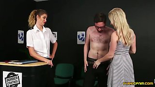Georgie Lyall & Candice Boarder Control Blowjob