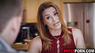 Busty Latina MILF Juliett Russo fucked in the kitchen