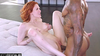 Busty Redhead MILF Maitland is Addicted to Massive Black Dicks