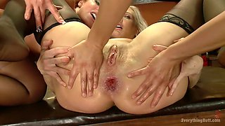 Hottest fetish, squirting porn clip with crazy pornstars Savannah Fox, Angel Allwood and Francesca Le from Everythingbutt