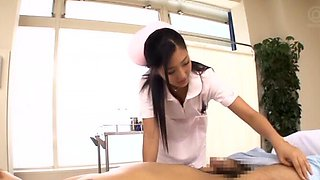 Gorgeous Mizuki Miri loves playing with two dicks at the same time