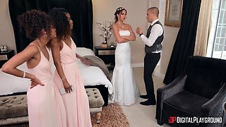 Scarlit Scandal, Demi Sutra And Desiree Night - Interracial Girls Help Bride To Calm Down Before Wedding