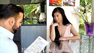 nannyspy asian babysitter jade kush caught giving massage