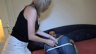 Sex-starved blonde maid Angel Piaff gets rough plowing