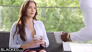 Hot Brunette Blair Cant Resist Her Coworkers Bbc