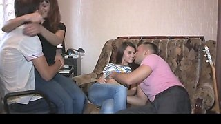 Hd sweet foursome college girl fucking like crazy