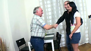 Engaging russian brunette cutie gets lanced by big donga