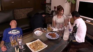 after dinner horny friends decide to enjoy memorable threesome