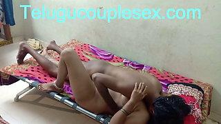 Andhra Desi Telugu Aunty On Bed Fucking and Taking Cum Inside