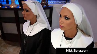 School nuns nikki benz &amp jessica jaymes bang a damn priest!