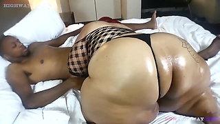 Fat ass granny riding a bbc