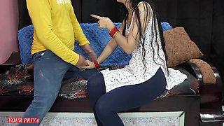 First Night In Priya Teaches Fucking To Brother In Hindi Audio