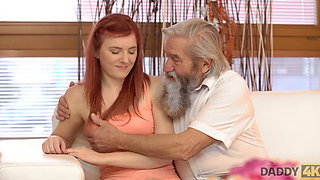 DADDY4K Man joins dirty sexual games of his naughty girl and old dad
