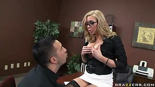 Laid and Let Go Big Cock Fuck From Dylan Riley in Office