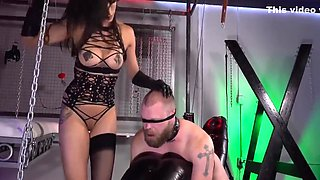 Bound And Fucked With A Strap-on 2 (double Cumshot) With Mistress Tangent