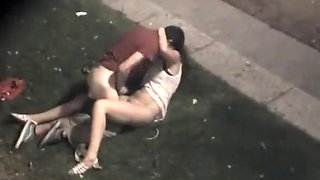 Young horny and drunk couple caught