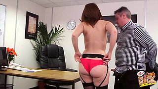 Lovely Candi Blows sucks off her boss and gets fucked from behind