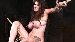 Bound BDSM sub spanked and punished by dom