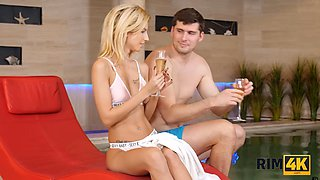 RIM4K. Anal Lover Pervert Asks Babe For Anal By The Pool