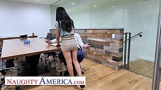 Avery Black & Jenna Rain Fuck In Office On Labor Day