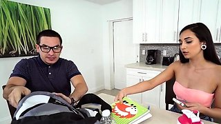 Fresh young maid Malina Mars caressed tenderly