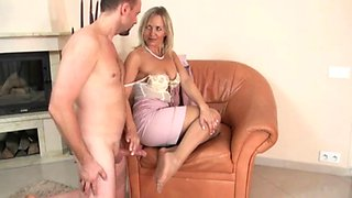 Alasfeet nylon job with pink dress
