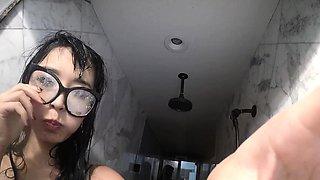 Marica Hase in sexy lingerie masturbates in the mirror