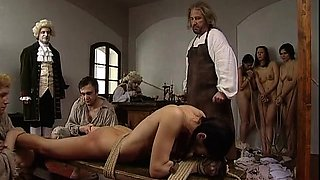 Sexy milf with a wonderful ass gets tied up and spanked hard
