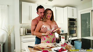 Giant meaty jugs of Alessandra Miller bouncing as she gets fucked
