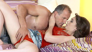 MOM After 69 stud shoots his hot cum inside hairy pussy