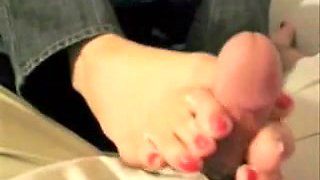 Foot job and cumshot compilation for feet fetish lovers