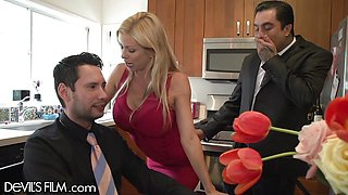 My Boss' Gorgeous Wife Alexis Fawx Fucked Me In Front of Him