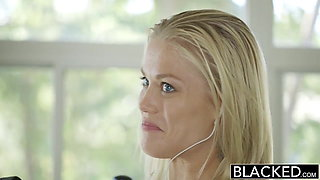 BLACKED Hot Blonde Ash Hollywood Cheats with Her BBC Trainer