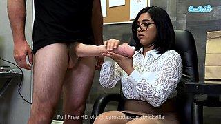 Camsoda - Busty pornstar tugs monstrous fake cock for cum