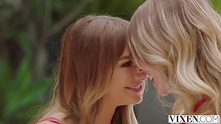 Anya Olsen And Naomi Swann In Uptight Oliver Has 2 Tight Pussies On Him!