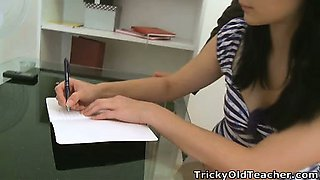 Tiffany may look innocent, but her dirty teacher soon takes