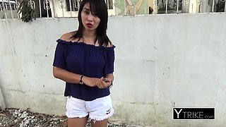 YOUNG filipina moans as her tight pussy is stretched by PERV